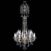 <B>【ART GLASS】</B>チェコクリスタルシャンデリア 24灯(W1200×H2300mm)