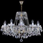 【1台在庫有!】【ART GLASS】クリスタルシャンデリア 12灯(W780×H550mm)