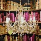 【ART GLASS】クリスタルシャンデリア「ANDULA」6灯(W560×H460mm)