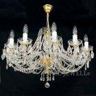 <B>【ART GLASS】</B>チェコorスワロフスキークリスタルシャンデリア 12灯(W790×H490mm)