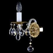 【ART GLASS】真鍮製クリスタルブラケット 1灯「CHLOE」(W110×H260mm)