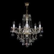 【ART GLASS】クリスタルシャンデリア「JESSICA」5灯(W580×H570mm)