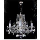 <B>【ART GLASS】</B>チェコorスワロフスキークリスタルシャンデリア 5灯(W470×H410mm)