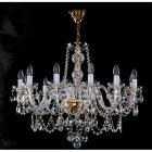 <B>【ART GLASS】</B>チェコorスワロフスキークリスタルシャンデリア 12灯(W840×H700mm)