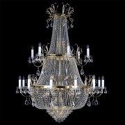 【ART GLASS】クリスタルエンパイアシャンデリア 33灯「VIRGINIE」(W1300×H1660mm)