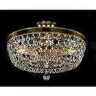 <B>【ART GLASS】</B>チェコorスワロフスキークリスタルシーリングシャンデリア 3灯(W350×H170mm)