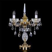 【ART GLASS】真鍮製クリスタルテーブルライト 3灯(W450×H590mm)