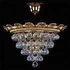【ART GLASS】クリスタル真鍮製シーリングシャンデリア 3灯(W365×H225mm)