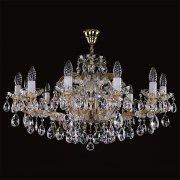 <B>【ART GLASS】</B>チェコorスワロフスキークリスタルシャンデリア 12灯(W820×H490mm)