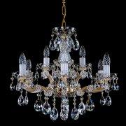 <B>【ART GLASS】</B>チェコorスワロフスキークリスタルシャンデリア 9灯(W580×H480mm)