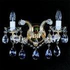 <B>【ART GLASS】</B>チェコorスワロフスキークリスタルブラケット 2灯(W360×H330mm)