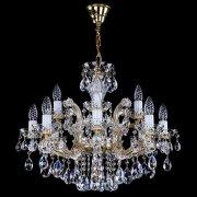 <B>【ART GLASS】</B>チェコorスワロフスキークリスタルシャンデリア 12灯(W610×H500mm)