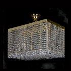 【ART GLASS】クリスタルライン・シーリングシャンデリア 10灯(W600×D350×H350mm)