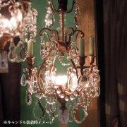 【1台在庫有!】【PIETER PORTERS】ベルギーアンティーク調シャンデリア 4灯(W340×H520mm)