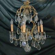<b>【1台在庫有!】【PIETER PORTERS】</b>ベルギーアンティーク調シェードシャンデリア 5灯(W510×H700mm)