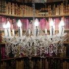 <B>【LA LUCE】</B>マリアテレサ型 クリスタルシャンデリア 15灯 ゴールドorクローム(W820×H490mm)