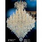 <B>【LA LUCE】</B>大型アスフールクリスタルシャンデリア 60灯 ゴールドorクローム(W1200×H1700)