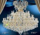【LA LUCE】大型クリスタルシャンデリア 52灯(W1550×H1450mm)