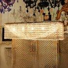 <b>【LA LUCE】</b>クリスタルデザインシャンデリア 7灯 クローム(W1000×D200×H200mm)