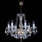 <B>【ART GLASS】</B>チェコorスワロフスキークリスタルシャンデリア 6灯(W530×H460mm)