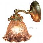<b>【LAMPS】</B>アンティーク調ガラスシェードウォールランプ 1灯(W135×D170×H180mm)
