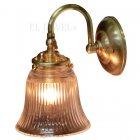 <b>【LAMPS】</B>アンティーク調ガラスシェードウォールランプ 1灯(W125×D180×H205mm)