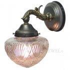 <b>【LAMPS】</B>屋外用(防雨型)アンティーク調ガラスシェードウォールランプ 1灯(W165×D210×H235mm)