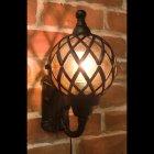 アンティーク調ウォールランプ「バルーン・アンティークブラック」1灯(W20×D21×H30cm)