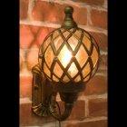 <b>【即納可!】</b>アンティーク調ウォールランプ「バルーン・アンティークブロンズ」1灯(W20×D21×H30cm)