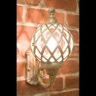 アンティーク調ウォールランプ「バルーン・アンティークホワイト」1灯(W20×D21×H30cm)