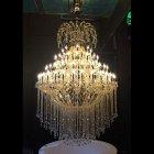 【LA LUCE】大型アスフールクリスタルシャンデリア 84灯 ゴールドorクローム(W1550×H2250mm)