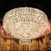 </b>【在庫有!】 チャイニーズクリスタルデザインシーリングシャンデリア 16灯 クローム(φ600×H380mm)