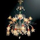 <b>【VENICE ARTE】</b>ヴェネチアンシャンデリア「Diantha」20灯(φ1060×H2050mm)