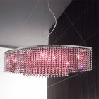 【Voltolina】イタリア製 デザインシャンデリア 6灯(W910×D350×H260mm)