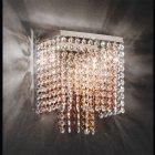 【1台ゴールドのみ在庫有!】【Voltolina】イタリア製クリスタルブラケット 2灯(W220×D130×H280mm)