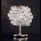 【Voltolina】イタリア製クリスタルテーブルライト 2灯(W300×D200×H370mm)