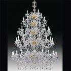 【Voltolina】イタリア製 クリスタルシャンデリア 80灯 (φ1750×H2950mm)