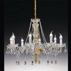 <b>【Voltolina】</b>イタリア製クリスタルシャンデリア 8灯(φ750×H570mm)