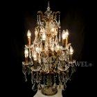 【在庫有!】【BAROQUE】オランダ製テーブルシャンデリア 12灯 アンティークゴールド(H850mm)