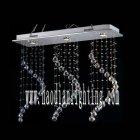 <b>【LA LUCE】</B>ワイヤーアート・クリスタルシーリングシャンデリア 3灯 クローム(W900×D250×H700mm)