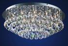 【LA LUCE】デザインクリスタルシーリングシャンデリア 25灯 クローム(φ660×H300mm)