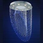 <b>【LA LUCE】</B>ワイヤーアート・クリスタルシーリングシャンデリア 8灯 クローム(φ660×H650mm)