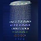 <b>【LA LUCE】</B>ワイヤーアート・クリスタルシーリングシャンデリア 4灯 クローム(600×350×H1300mm
