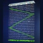 <b>【LA LUCE】</B>ワイヤーアート・クリスタルシーリングシャンデリア 5灯 クローム(900×120×H1200mm)