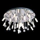 <b>【LA LUCE】</B>デザインクリスタルシーリングシャンデリア 24灯 クローム(φ680×H370mm)