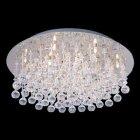 <b>【LA LUCE】</B>デザインクリスタルシーリングシャンデリア 24灯 クローム(φ660×H160mm)