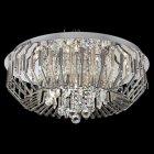 <b>【LA LUCE】</B>デザインクリスタルシーリングシャンデリア 18灯 クローム(φ660×H300mm)