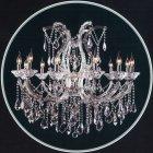 <b>【LA LUCE】</B>クリスタルシャンデリア 13灯 クローム(W1000×H880mm)
