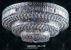 <b>【LA LUCE】</B>クリスタルシーリングシャンデリア 32灯 クローム(W1020×H420mm)