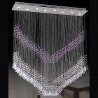 <b>【LA LUCE】</B>ワイヤーアート・クリスタルシーリングシャンデリア 8灯 クローム(1300×300×H1500mm)